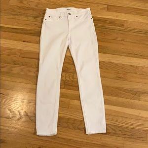 Hudson Natalie Skinny White Jeans Size 25 NWOT